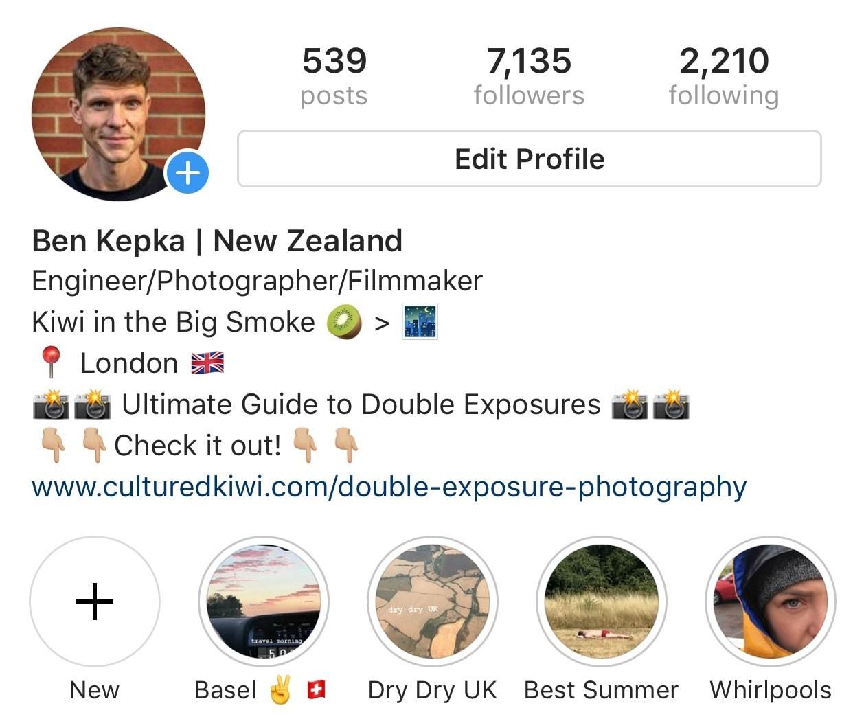ben kepka instagram profile