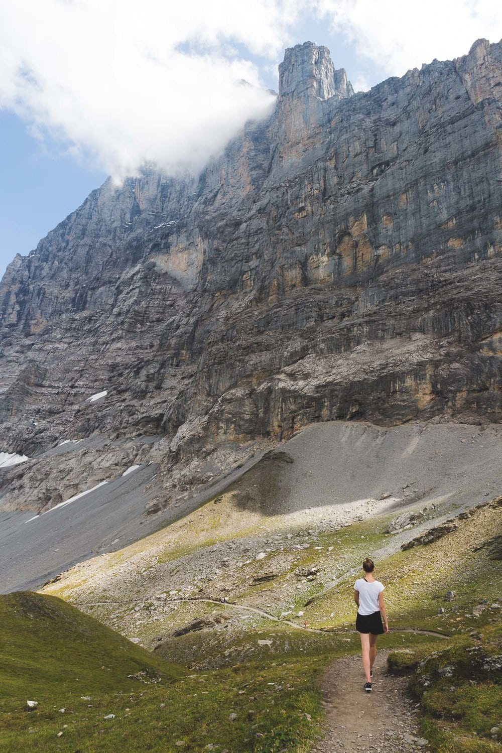 Eiger Trail walking below the North Face