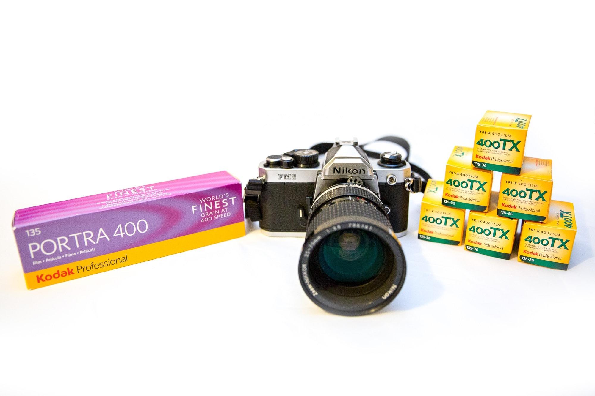 Nikon FM2 with Kodak Portra and Kodak Tri X